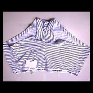 NWT/Calvin Klein white & navy blue stripes/ Size M
